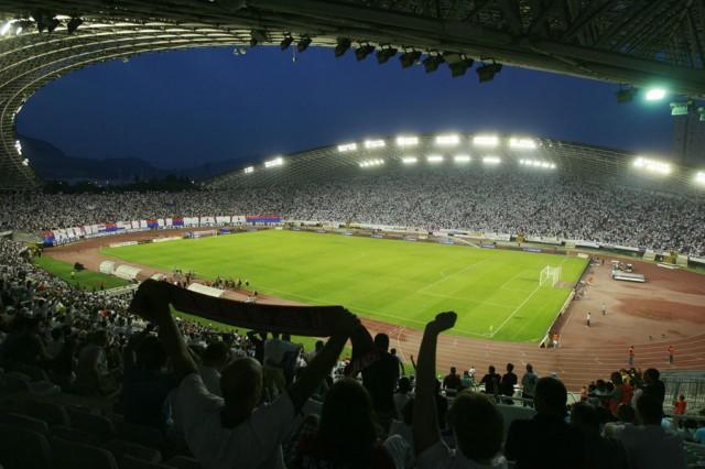 Split, 02.08.2012 - Nogomet: Pun Poljud uoci utakmice izmedju Hajduka i Intera