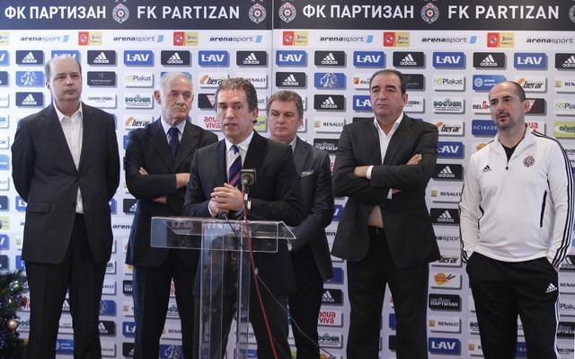 Partizan okupljanje, Teleoptik pocetka priprema za prolecni deo prvenstva 2012/2013 Beograd, Srbija
