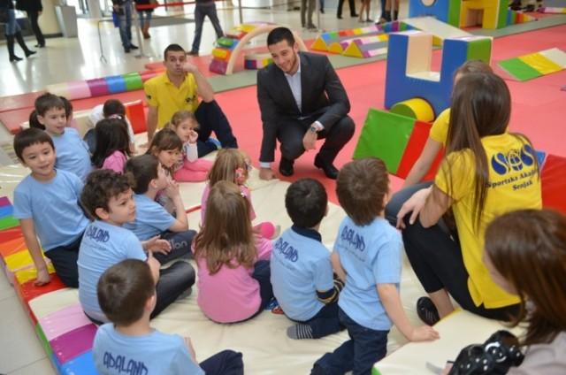Vanja Udovicic na otvaranju - Decija sportska nedelja