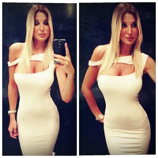 Dragana Dzajic bela haljina