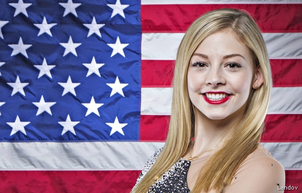 OLYMPIC FIGURE SKATER GRACIE GOLD POSES FOR A PORTRAIT DURING THE 2013 U.S. OLYMPIC TEAM MEDIA SUMMIT IN PARK CITY, UTAH