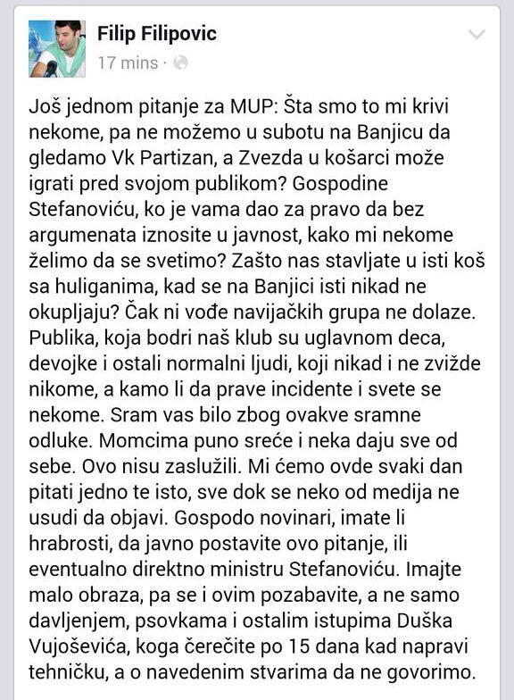 Filip Filipovic FB