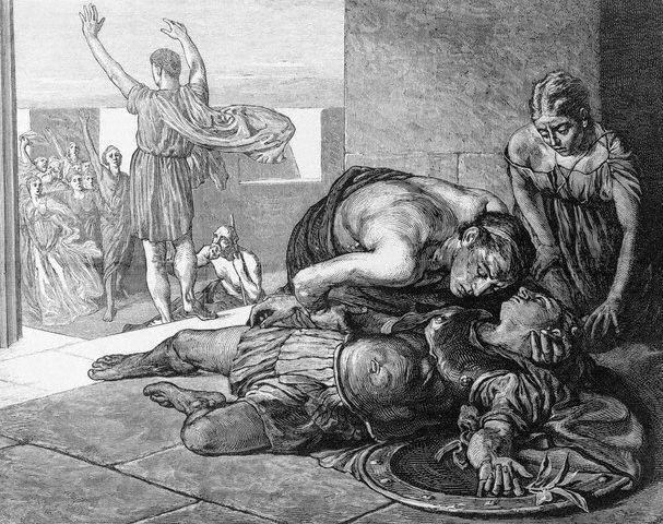 Death of Eucles After Battle of Marathon