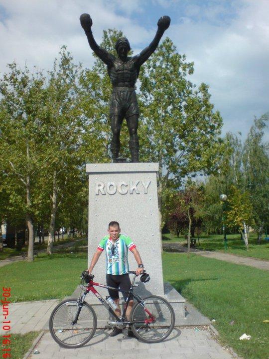 Spomenik Rokiju Balboi u banatskom selu Žitištu