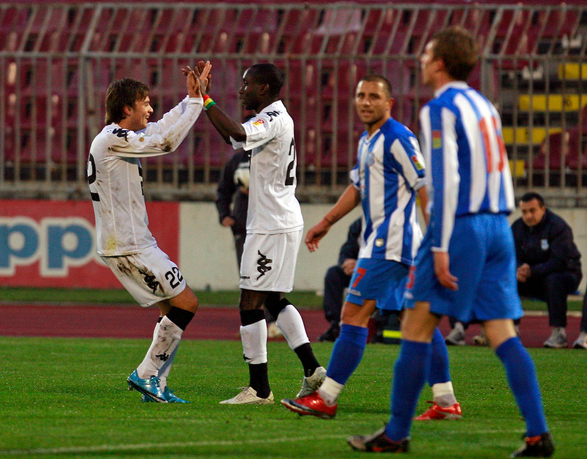 Adem Ljajic Lamine Dijara Sport Partizan Ofk Beograd Fudbal Jelen Superliga 6.12.2009. photo: Pedja Milosavljevic
