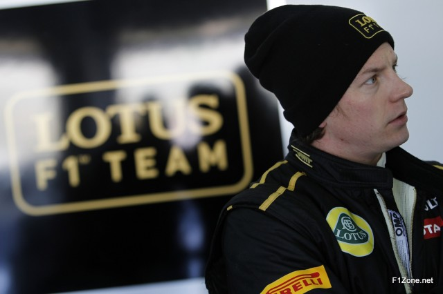 Kimi Raikkonen tests the R30