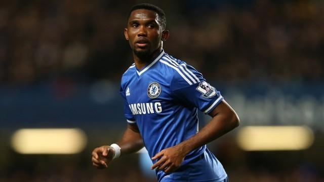 Chelsea's Samuel Eto'o in action