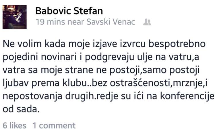 FOTO: facebook.com/Babovic Stefan