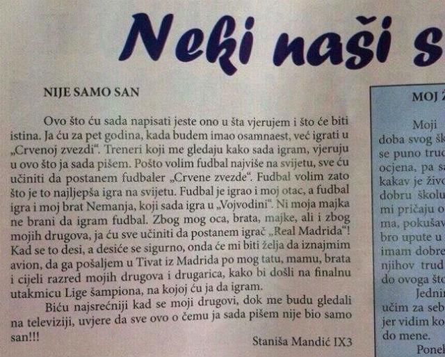 Stanisa Mandic PISMO