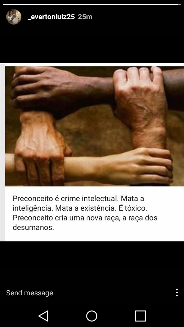 Everton Luiz poruka protiv rasizma